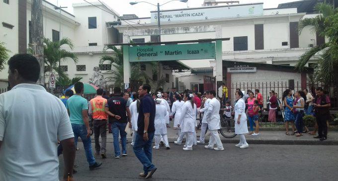 Simulacro  de emergencia en Hospital General Martín Icaza
