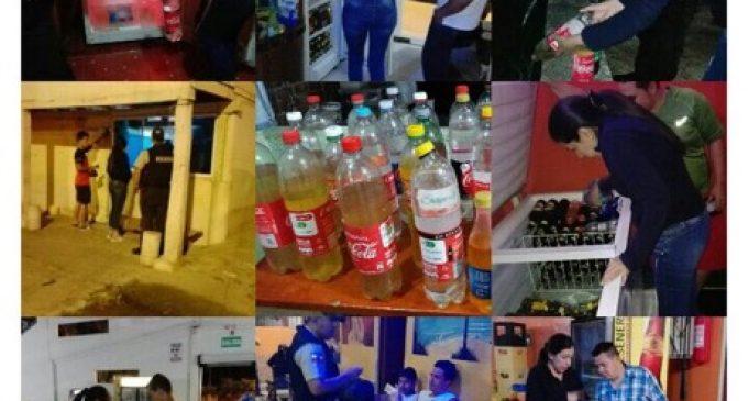 Policía Nacional realiza controles permanentes para evitar el expendio de licor sin registro sanitario