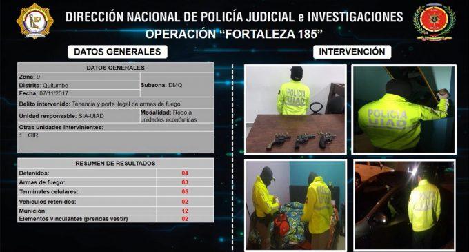 """Banda delincuencial dedicada al robo de restaurantes fue desarticulada en """"Fortaleza 185"""
