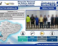 Operativo Impacto 57 desmanteló banda investigada por robos, asaltos y sicariato