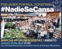 Marcha por la Paz se iniciará a las 17:30