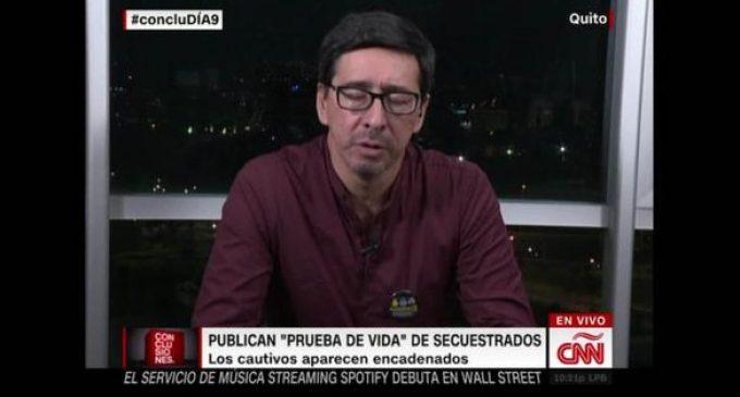"""Hermano de periodista secuestrado: """"No me siento conforme con la postura del gobierno colombiano"""""""