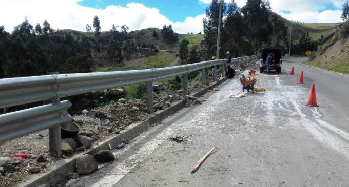 MTOP Cañar mejora la vía El Tambo – Ingapirca – Honorato Vázquez