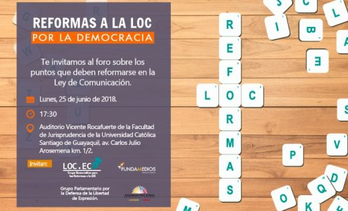 Guayaquil debatirá refirmas al LOC