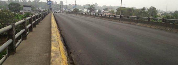Puente sur de Quevedo con nueva carpeta asfáltica