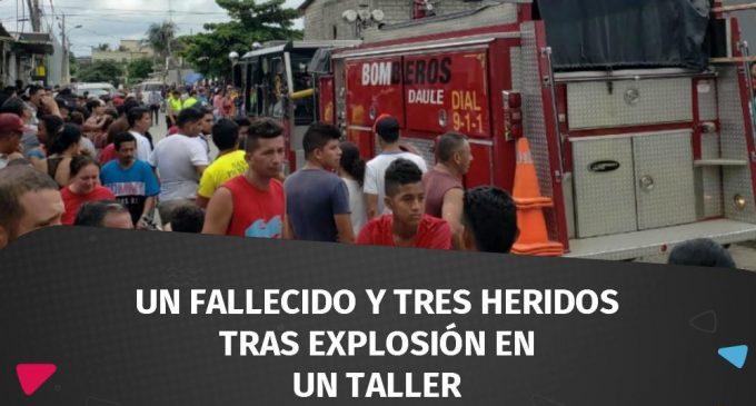 Un fallecido y tres heridos tras explosión en un taller