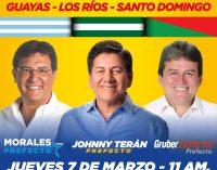 Se firmará convenio entre LosRíos,  Guayas y Santo Domingo