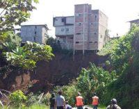 Cinco viviendas a punto del colapso por las lluvias