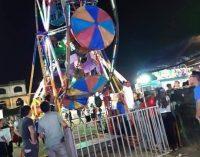 ACCIDENTE EN RUEDA MOSCOVITA DEJA A NIÑO HERIDO