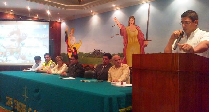 Funcionarios Judiciales y de la Policía Nacional recibieron taller de administración de Justicia.