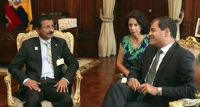 Rafael Correa se reunió con accionista de DP World