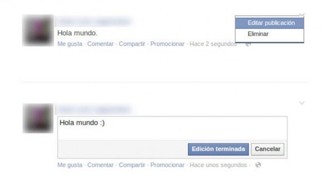 Facebook activó la función que permite editar las publicaciones