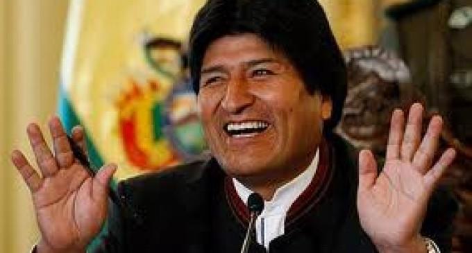 Maduro recibe a Evo Morales
