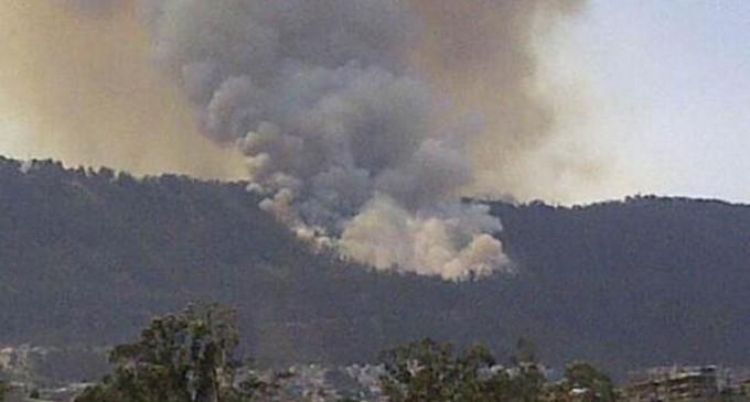 Se registra un incendio en el parque Metropolitano de Quito en horas de esta tarde