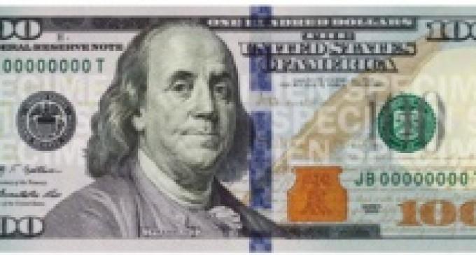 Circula nuevo billete de USD100
