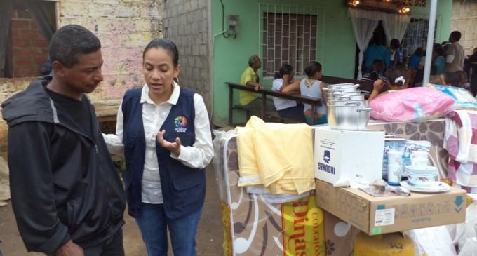 Se entregó ayuda humanitaria a familia afectada por incendio