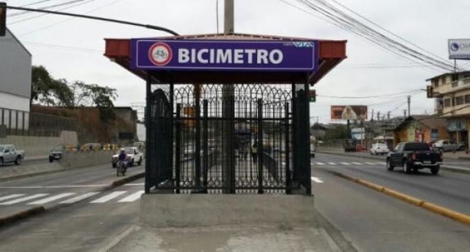 'Bicimetro', una forma segura de llegar a la Metrovía para ciclistas