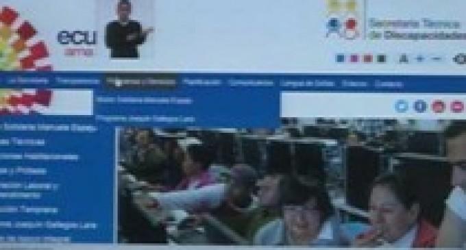 La primera página web para personas con discapacidad visual y auditiva fue presentada en Ecuador