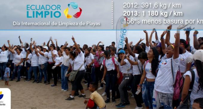 Ecuador superó voluntarios y kilómetros de recolección en el Día Internacional de Limpieza de Playas