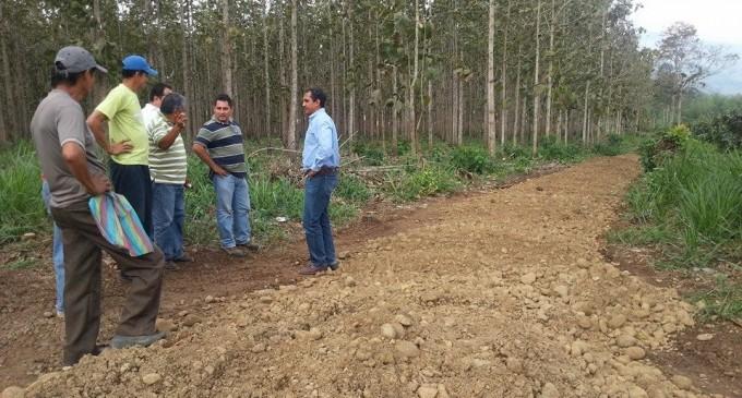 Viceprefecto inspecciona arreglo de caminos vecinales en Babahoyo
