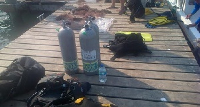 Limpieza de fondo marino en Punta San Lorenzo y Liguinqui