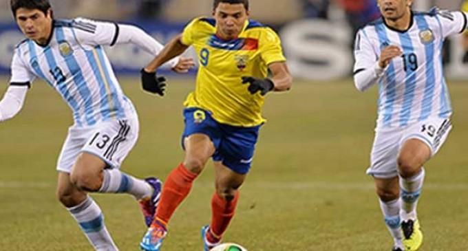 Ecuador y Argentina empataron sin goles en su amistoso en New Jersey