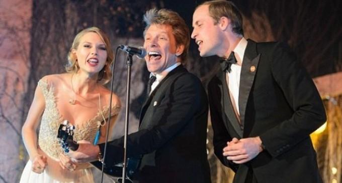 Canta Príncipe Guillermo con Swift y Bon Jovi