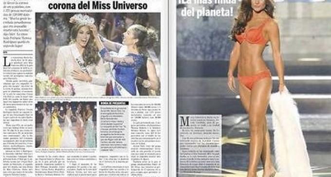 Periódico venezolano confunde a la Miss Universo y publica foto de Constanza Báez