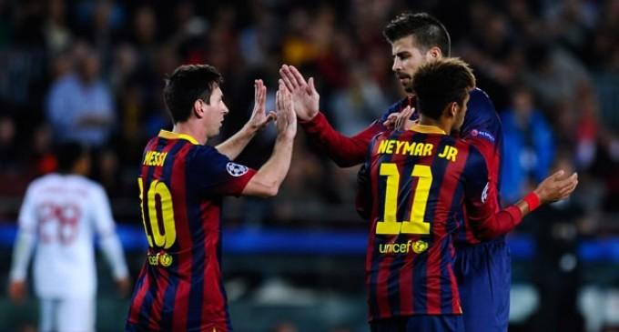 Con doblete de Messi, Barcelona venció al Milán