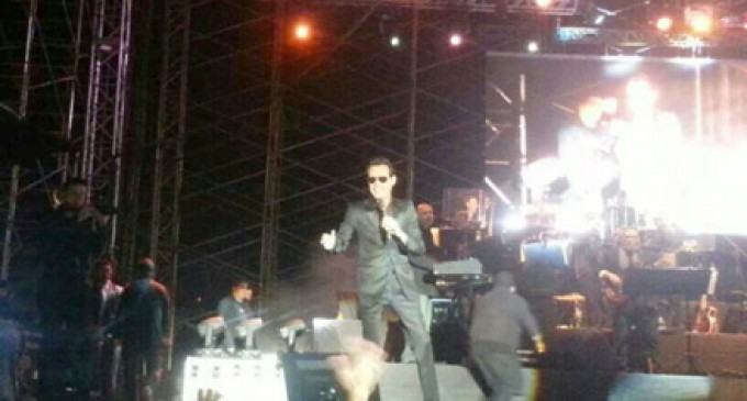 Marc Anthony y Américo hicieron bailar en el Alejandro Serrano Aguilar