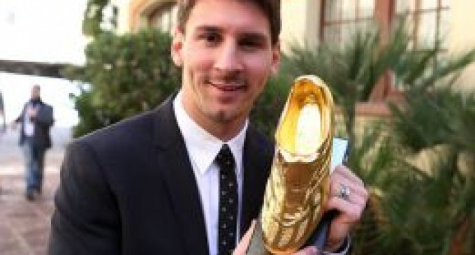 """Messi recibió la Bota de Oro: """"Debo fortalecer mi cuerpo"""""""