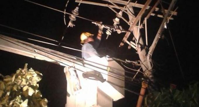 Se restableció servicio eléctrico