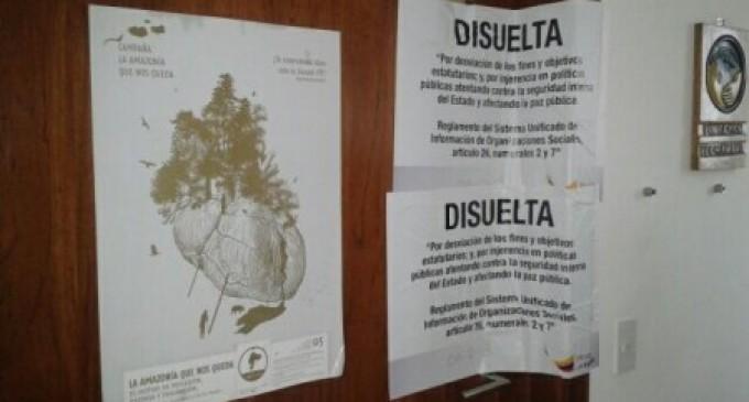 Ministerio inicia operativos para disolver ONG vinculadas a actos violentos