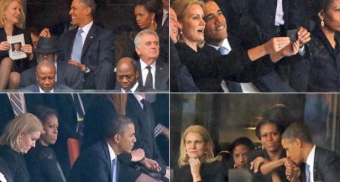El enfado de Michelle con Barack Obama durante el funeral de Mandela