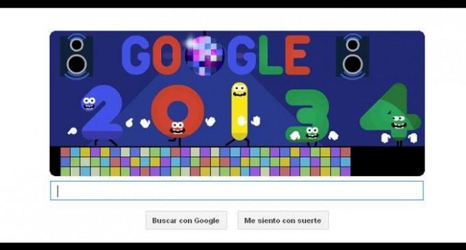 Google recibe el 2014 con un doodle