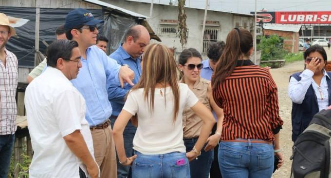 MINISTRO DE DESARROLLO URBANO Y VIVIENDA RECORRIÓ SECTORES VULNERABLES DE BABAHOYO