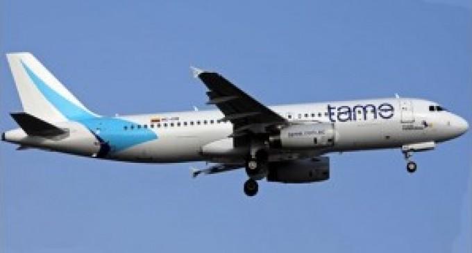 TAME suspende desde hoy los vuelos Quito-Caracas