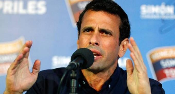 Capriles propone a Maduro trabajar unidos contra la violencia
