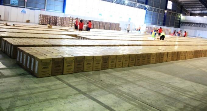 CNE inicia la distribución de paquetes electorales