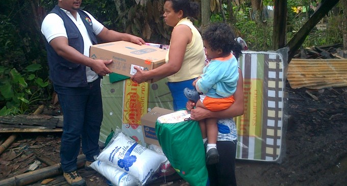 Familia afectada por incendio recibió ayuda humanitaria en Montalvo