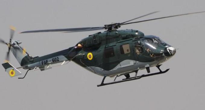 Se accidentó un helicóptero de la FAE en el sector de Huigra