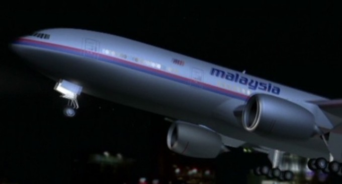 Un satélite detecta una posible área de choque del avión de Malaysia Airlines