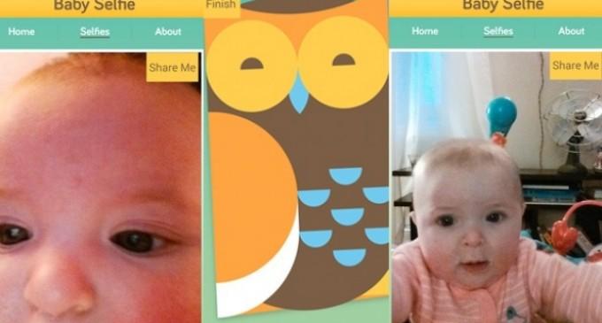 Crean una aplicación para que los bebés puedan hacerse 'selfies'