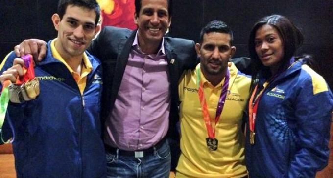 Blanco da otro oro para Ecuador en lucha