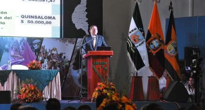 Prefecto rindió cuentas y anunció 30 nuevos proyectos viales para Los Ríos