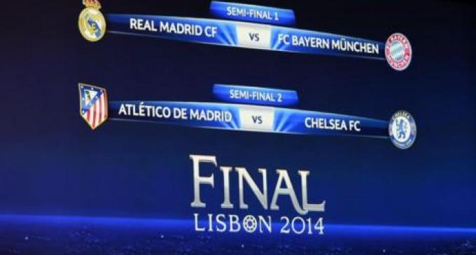 Real Madrid vs Bayern y Atlético vs Chelsea, las semifinales de la Champions