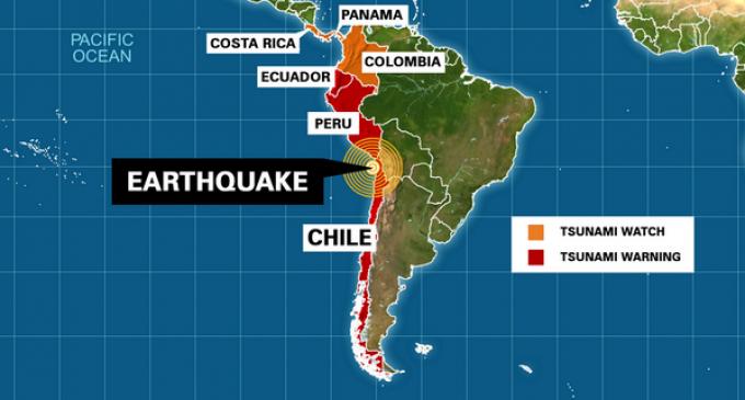 Alerta de tsunami en norte de Chile por terremoto de 8.3 grados