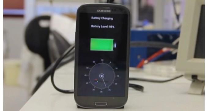 Carga tu celular en 30 segundos