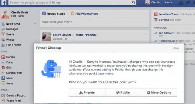 Facebook ajusta su privacidad para compartir información solo con amigos
