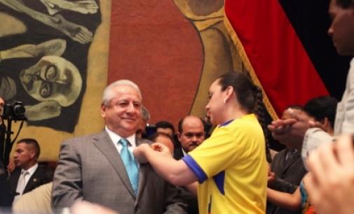 Asamblea Nacional rindió homenaje a la seleción Ecuatoriana